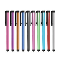 Wholesale Apple Iphone Different Colors - Wholesale 500pcs lot Universal Capacitive Stylus Pen for Iphone5 5S Touch Pen for Cell Phone For Tablet Different Colors