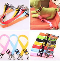 Wholesale Dog Leash Collars - 1.5X 75CM Adjustable Car Vehicle Safety Seatbelt Seat Belt Harness Lead for Cat Dog epacket free