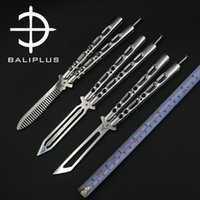 Wholesale Balisong Knife Comb - [BALIPLUS BLADES]SK SERIES TRAINER BALISONG BUTTERFLY COMB  SPRING-LATCH SEALED RIVET PIVOT STRUCTURE