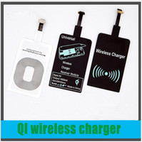 Wholesale Galaxy S4 Qi Charger - Fast Speed Qi wireless charger Accept wireless charger receiver for iphone6 5S 5C 6s plus 7 7 plus galaxy S4 S5 NOTE3 NOTE4 5