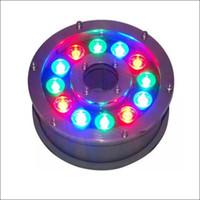 iluminação led subaquática para fontes venda por atacado-Iluminação da fonte da piscina Paisagem luzes LED Luzes ao ar livre fonte RGB usando LED luz subaquática carcaça inoxidável lâmpada subterrânea IP68