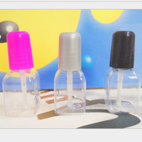 Wholesale Empty Nail Polish Bottle 5ml - 5ml perfame plastic Empty Nail Polish Packaging Bottle Square shape Nail Oil refillable Containers Free shipping F2017389