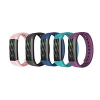 Wholesale Packing For Bracelet - Bluetooth Smart Bracelet Fitness Tracker Step Counter Activity Monitor Smart Sports Wristband Life-level Waterproof With Retail Packing