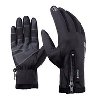 Wholesale Bicycle Winter Gloves Waterproof - High Quality Winter Warm Windproof Waterproof Long Full Finger MTB Road Bike Bicycle Men Sports Touch Screen Anti-slip Cycling Riding Gloves