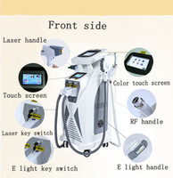 Wholesale Tattoo Removal Light Machine - 2017 multifunctional IPL machine nd yag laser tattoo removal e-light rf skin rejuvenation opt hair removal