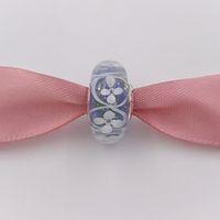 encanto european purple murano beads venda por atacado-Authentic 925 Sterling Silver Beads Roxo Campo De Flores Encantos Serve Pulseiras Colar De Jóias Estilo Europeu Pandora Murano 791667