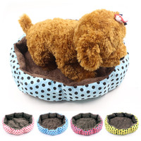 Cute Pet Products Soft Fleece Pet Bed para gatos Dogs camas para perros pequenos Small Animals Bed House Kennel frete grátis