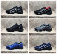 Wholesale Eur Size 46 - 2017 New Brand Speedcross 4 CS Running Shoes For Men, Breathable Waterproof Outdoor Athletic Sport Sneakers Hiking Shoes Eur Size 40-46