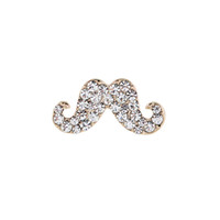 Wholesale Indian Beards - Wholesale and Retail New Fashion Classic Mini Brooches Gold Plated Crystal Rhinestone Beard Brooch Pins women Girl Party Jewelry Accessory