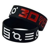 Wholesale 50PCS Rock Band Seconds To Mars Inch Wide Silicone Bracelet for Music Fans Gift