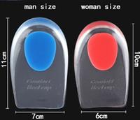 ayakkabı tek koruyucusu toptan satış-Erkek Kadın Silikon Jel Topuk Yastık Tabanlık Tabanı Rahatlatmak Ayak Ağrısı Koruyucuları Spur Destek Ayakkabı Pad Ayak Bakımı Ekler