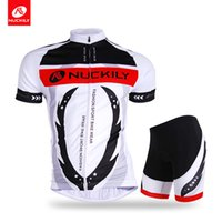 Wholesale Cheap Spandex Cycling Shorts - Nuckily Cheap professional gladiator sublimation cycling jersey set High quality of men's 2pcs biking short suit AJ208BK267
