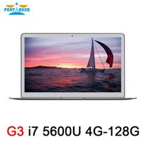 Wholesale Intel I7 Laptop Processors - Partaker 13.3 inch Intel i7 5600u Notebook Laptop Computer with Bluetooth Webcam 7000mah Battery Free Shipping
