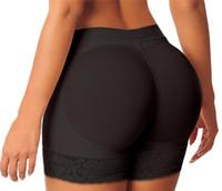 mais boxes de renda de tamanho venda por atacado-Mulheres Sexy Butt Lifter Tummy Controle Hip Apertado Push Up Coxim Trimmer Controle Manter Aquecido Mulheres Calcinha De Renda Mais tamanho