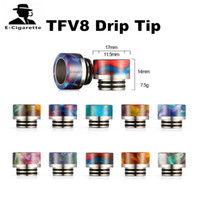 Wholesale Rda Stainless - Resin Stainless Steel Drip Tip For TFV8 TFV12 and Kennedy RDA Tank 10 Colors Free Shipping