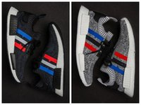 Wholesale Cotton Floor Runners - 2017 high quality NMD Runner R1 Primeknit PK Tri-Color Red white blue grey Men and Women Running Shoes Classic sports Shoes Sneakers