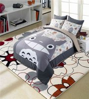 Wholesale Totoro Queen Size Bedding - Totoro bed bedding set cartoon Japan style anime character designer comforter duvet cover bed linens twin full queen king size