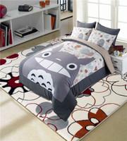 Wholesale Cartoon Bedding Queen - Totoro bed bedding set cartoon Japan style anime character designer comforter duvet cover bed linens twin full queen king size