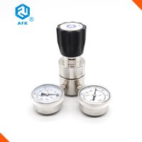 Wholesale AFK High pressure Piston inlet psi outlet psi stainless steel L quot NPT with two gauges natural Gas Pressure Regulator