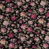 Wholesale Poplin Cloth - Roses Printed 100% Cotton Floral Poplin Fabric for Dress Shirts Patchwork Quilting Cloth Sewing Tissue 145cm 57in Wide