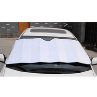 Discount front window visor windshield cover - Wholesale- Front Windshield Car Window Foldable Sun Visor Shade Shield Cover Block Accessories Silver Color Foam
