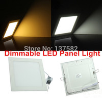 Vente en gros - 25 Watt Dimmable Ultra mince design LED Dimmable Plafond encastré Grille Downlight / Slim Square Panel Light