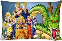 Wholesale Dragon Ball Pillows - Wholesale- Pillow Case F11 Top Selling Dragon Ball Z Custom Zippered Rectangle Pillowcases Pillow Cover Cases Size 35x45cm (One Side)