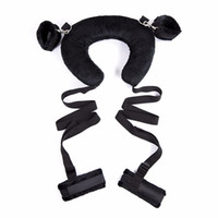 Wholesale leg harness sex - Adult Sex Position Master Leg Spreader Straps with Padded Neck Harness Erotic Bondage Kinky Sex Pillow Toy for Couples
