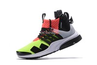 Wholesale Neon Basketball Sneakers - ACRONYM x Air Presto Mid Neon Basketball Shoes Mens ACRONYM x Air Presto Mid Neon Sneakers For Sale Size US 7-11
