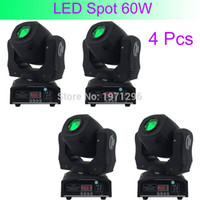 Wholesale Good Led Spot Lights - Wholesale- 4 Pcs Hot Good Quality 60W LED Spot Light DMX512 Master-Slave Auto Run Sound Controller Moving Head Light DJ Bar Performance