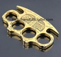Wholesale HELL DETECTIVE CONSTANTINE BRASS KNUCKLE DUSTERS GOLD Powerful damage safety equipment self defense