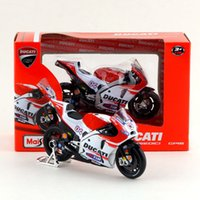 Wholesale Diecast Bicycles - Free Shipping Maisto 1:18 Motorcycle 2015 Desmosedici GP15 Model Diecast Toy Exquisite Collection Educational Gift For Children