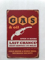 Wholesale pub open signs resale online - Gas oil Open hours tin sign Vintage home Bar Pub Hotel Restaurant Coffee Shop home Decorative Metal Retro Metal Poster Tin Sign