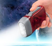 Outdoor 3 LED Hand Press Pas de batterie Wind Up Crank Dynamo Flashlight Light Torch Camping Portable Flash Light