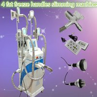 Wholesale Diode Slimming Machine - fat freeze machine lipo laser 635nm diode laser body slimming cavitation skin tightening machine 5MHZ RF handle 4 fat freezing handles