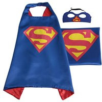 Wholesale Boys Super Hero Costumes - DHL shipping Kids Superhero Capes Boy Girl Children Superhero Halloween Cosplay Superhero Capes Kids Capes With Mask