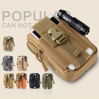 Wholesale Iphone 4s Pouches - Universal Sport Military Belt Hip Waist Bags Phone Pouch For iPhone 7 6 Plus 5S 6S 5 5S SE 5C 4S 4 Camouflage Case Pocket Pack