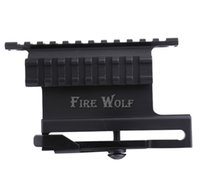 Frete Grátis AKs Side Picatinny Rail QD Mount / Tactical Side Plate Duplo Picatinny-Style Side Rail Scope-Sight Mount para AK