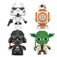 Wholesale Star Wars Items - Cool Star Minifigures Wars Building Sets DIY Diamond Building Blocks Anti Autism and ADHD Time Killer Stress Reliever Gifts Item