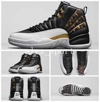 Wholesale Canvas Shoes Wings - 2017 High Quality Retro 12 Wings Men Basketball Shoes 12s Wings Discolor Gold Air Retro 12 Master Sports Shoes With Box