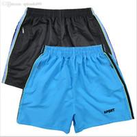 Wholesale Wholesale Men S Board Shorts - Wholesale-Best Selling Anti-UV Men Basic Beach Short Pants Sport Surf Shorts board shorts Fitness Gym Shorts Pants Running Trousers