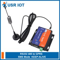 Wholesale Gsm Serial - Wholesale- Q064 USR-GPRS232-730 Serial RS232 RS485 to GSM Modems Converter Server GPRS DTU Flow Control TCP and UDP Supported