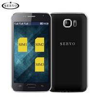 "Wholesale Three Sim Cards Mobile Phone - Original Phone Mobile phone for Servo S6 Three SIM Card 4.6"" Quad Band GSM WIFI Bluetooth Support multi-language Unlocked celular Russian"