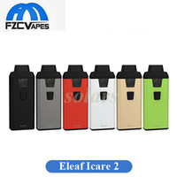 Wholesale personal vaporizer - Authentic Icare 2 Starter Kit 650mah Ultra Portable Pod Device 1.3ml Capacity Personal Vaporizer 100% Original