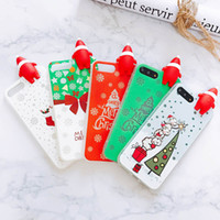Wholesale Iphone Santa Case 3d - Fashion Christmas Style Phone Cases with 3D Santa Claus PaPa Luminous Soft Phone Cover For iphone X 8 7 6 6S Plus