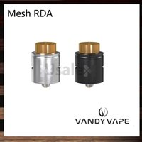 Wholesale Wire Mesh Wholesalers - Vandy Vape Mesh RDA Compatible with Mesh Wire and Standard Coil Builds Unique Invisible Clamp Style Postless Build Deck 100% Original