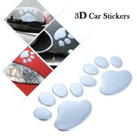 Wholesale Animal Notebooks - Car Funny Sticker 3D Auto Vehicle Footprint Cute PVC Paster Personalized Decor Multipurpose for Notebook Laptop Fashion Decoration Wholesale