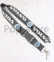 Wholesale automobile keys - Automobile wind VOLVO Lanyard Key ChainLanyard Key chain mobile phone neck strap black and white.
