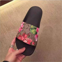 Wholesale Design New Sandal - New Arrival 2017 Fashion Design Women's Summer Love Beatiful Printed Leather Slippers Comfortable Print Slides Beach Sandals