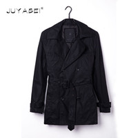 Wholesale Europe Trench - Wholesale- Size Customize Quality Slim Double Breasted Mens Middle-long Trench Coat Europe Trenchcoat Jacket Male Coat Trench Free Shippi
